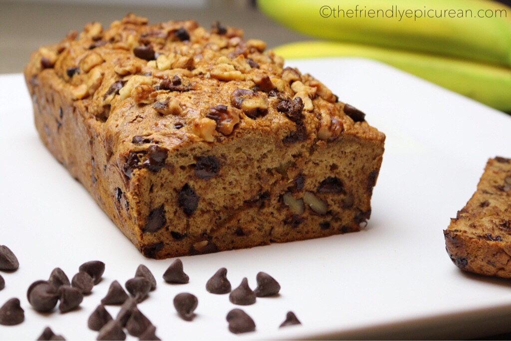 The Best Chocolate Chip Banana Loaf (vegan, gluten free)